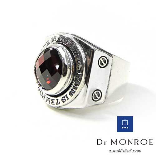 【Dr MONROE】ドクターモンロー シルバーメンズリング FC-137SE-SV2/ガーネット