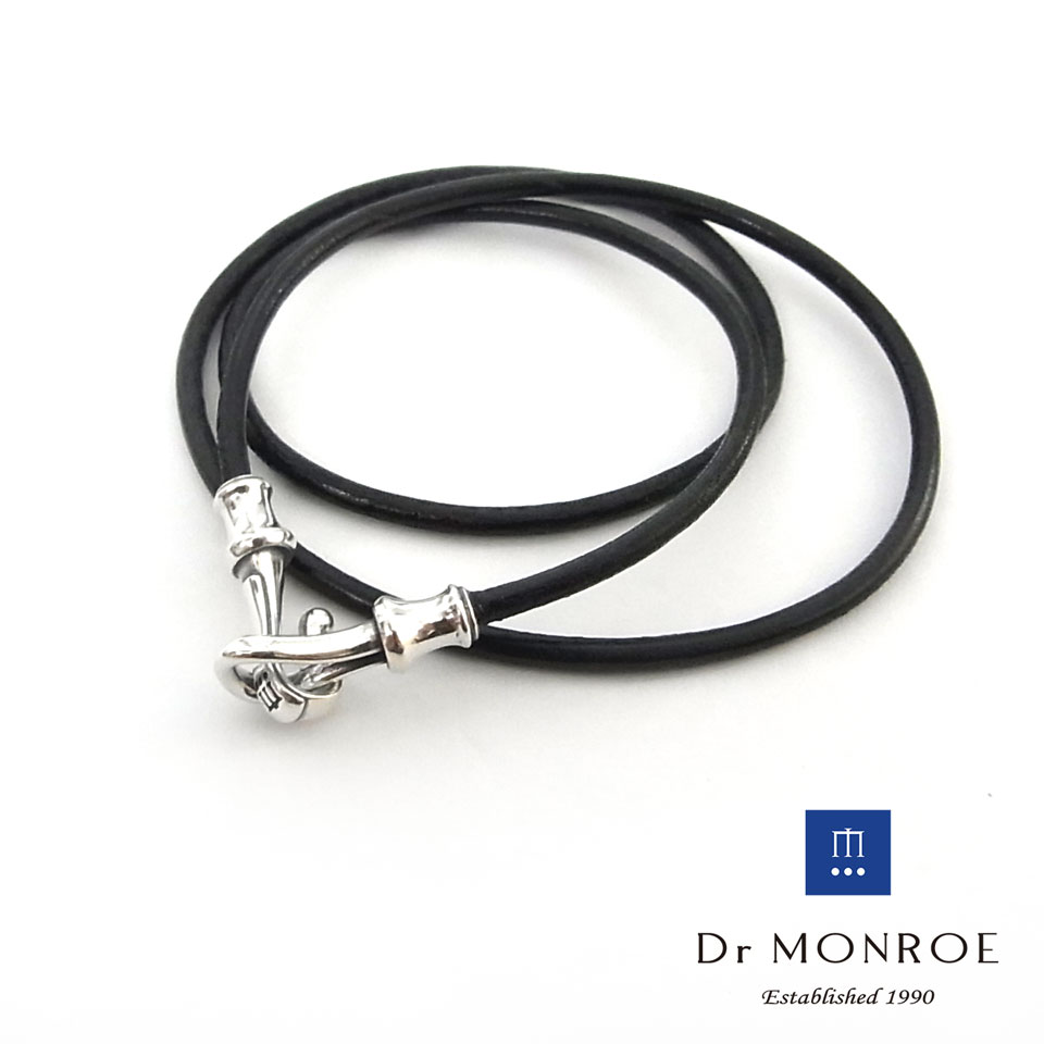【Dr MONROE】ドクターモンローシルバーメンズレザーブレスレット