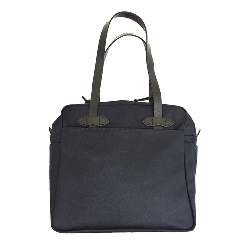 【FILSON】フィルソンTONE BAG WITH ZIPPER トートバッグ ウィズ ジッパー/トートバッグ/ジッパー付き/ブライドルレザー/ネイビー/タン/グリーン/80354661015