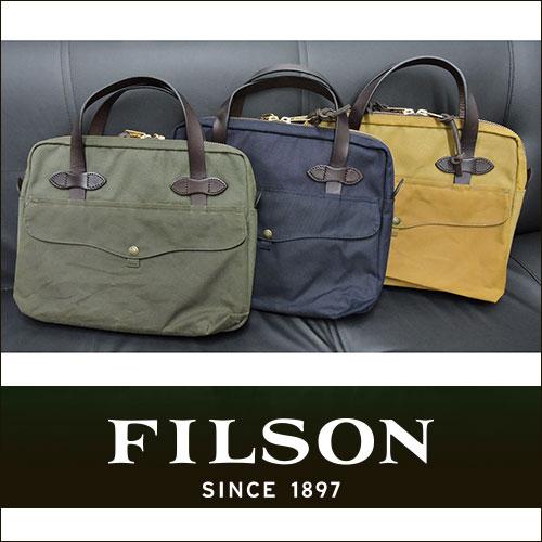 【FILSON】フィルソンTRAVEL BRIEF CASE トラベルブリーフケース/ショルダーバッグ/ビジネスバッグ/ビジネス/グリーン/ネイビー/タン