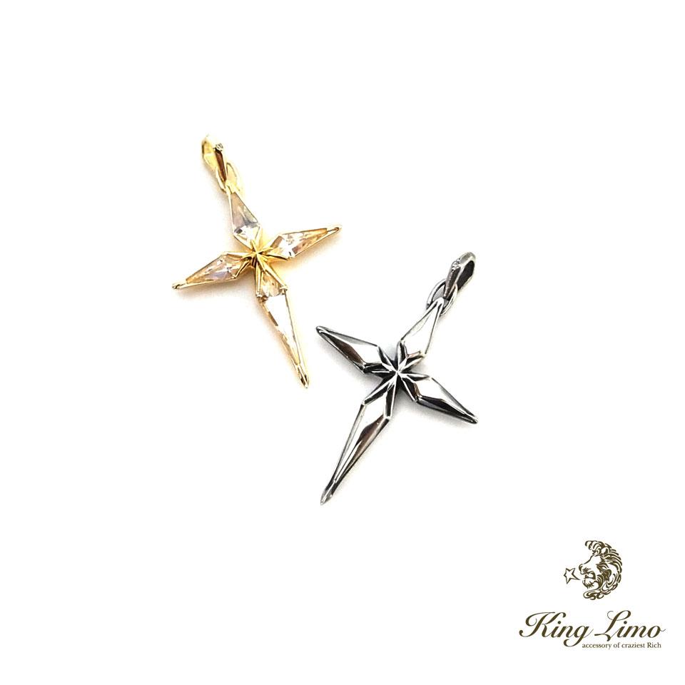 【KING LIMO】キングリモダイアナクロスペンダント/シルバー/燻仕上げ