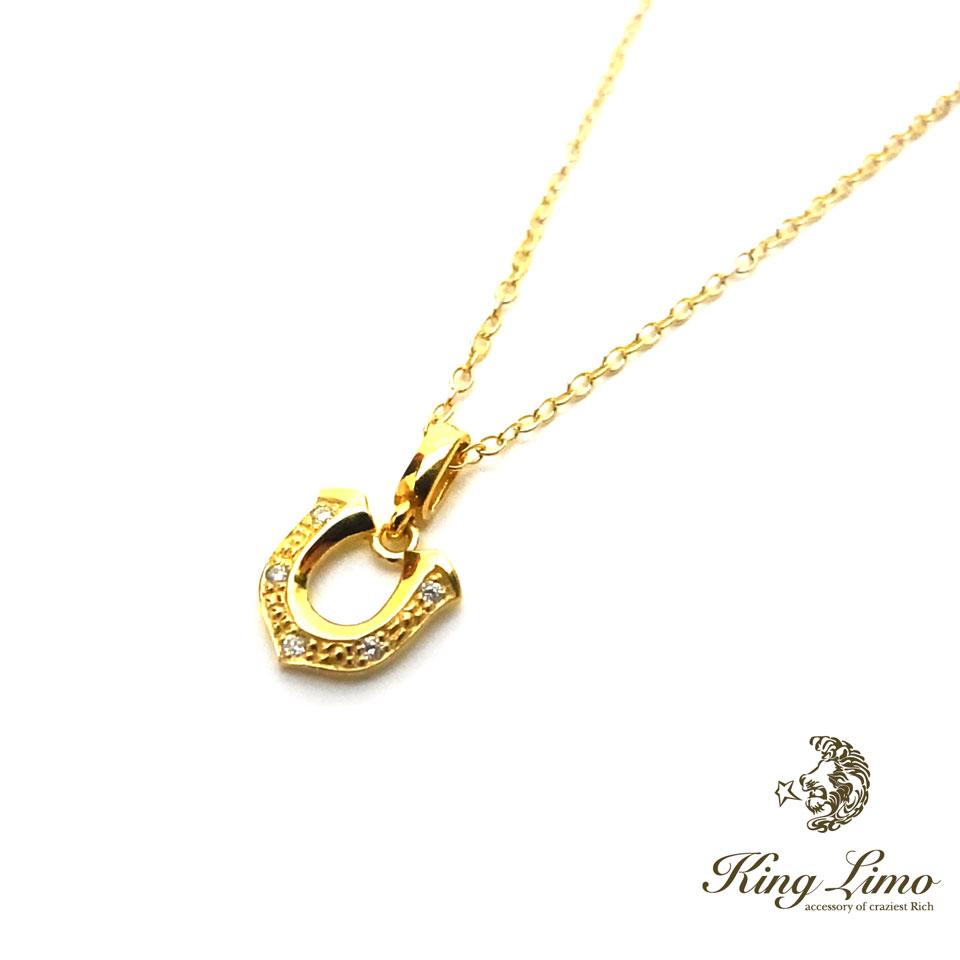 【KING LIMO】キングリモTINY HIGH-ROLLER w/CZ/18KGコーティングペンダント