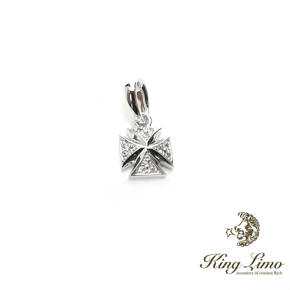 【KING LIMO】キングリモフレイバークロスチャーム/シルバーペンダント(45CMチェーン付き)