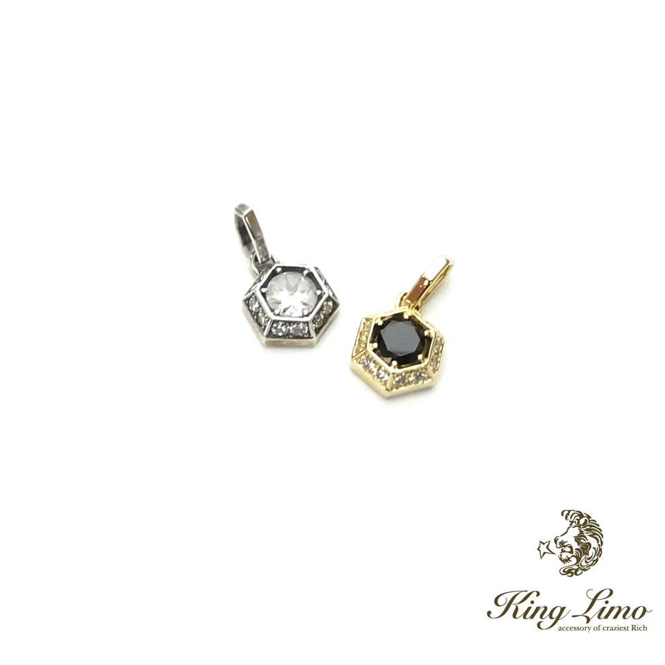 【KING LIMO】キングリモマイクロバビロンチャーム/シルバーペンダント/クリアCZ/ラッキーシール対象ショップ