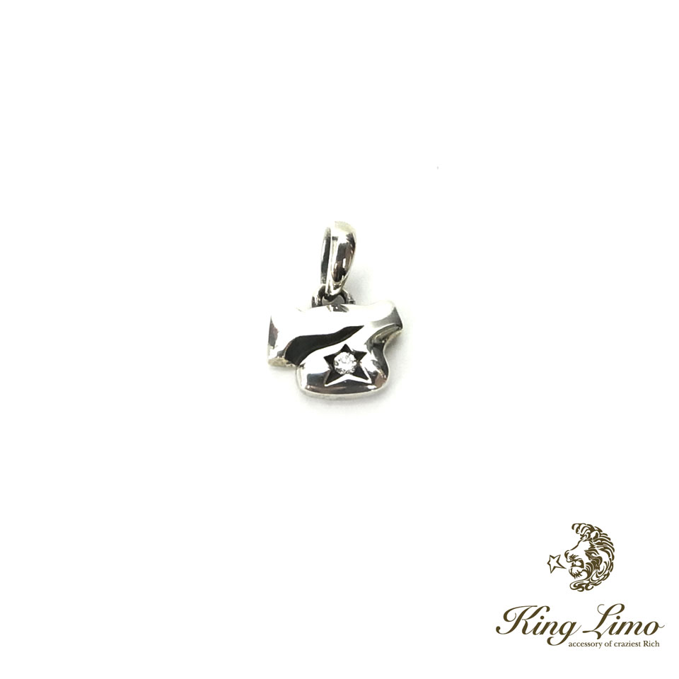 【KING LIMO】キングリモマイクロセブンシルバーチャームペンダント/45CMチェーン付