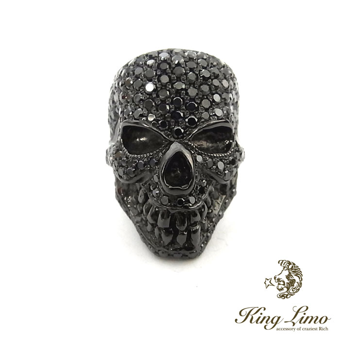 【KING LIMO】キングリモキングヘッドリング/シルバー/ブラックコーティング/パヴェCZ