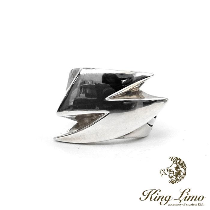 【KING LIMO】キングリモサンダーウォールリング/シルバー/稲妻