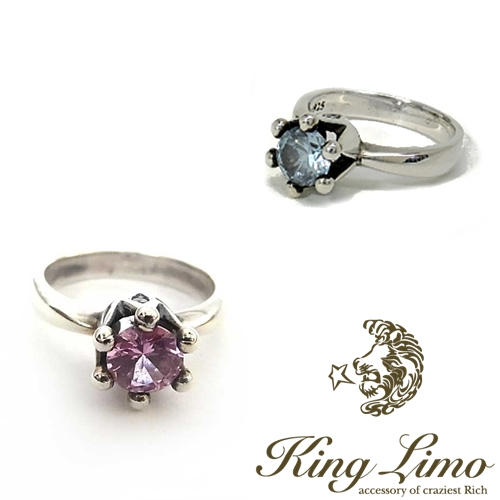 【KING LIMO】キングリモマイクロクラウンリング/シルバー/CZ
