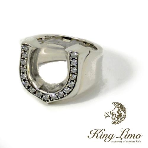 【KING LIMO】キングリモHIGH-ROLLER RING ハイローラーリング/シルバーリング/ホースシュー/ジルコニア