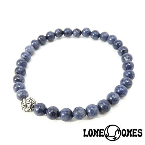 【LONE ONES】ロンワンズ【送料無料】【あす楽】/MF Stone Bracelet - Embossed Nest Small Bead ストーンブレスレット/エンボスドネストビード スモール ストーンブレスレット/6mmストーン/天然石/シルバー