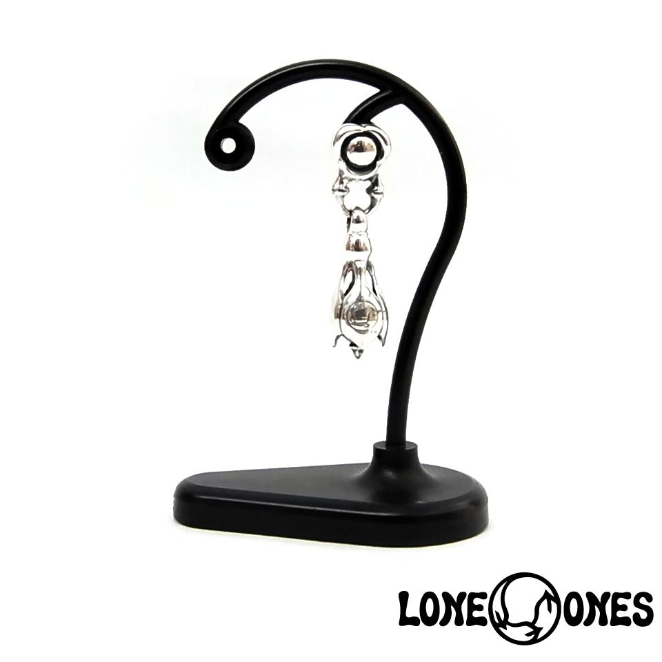 【LONE ONES】ロンワンズ【送料無料】【あす楽】/KF Earring: Flow (Hug Me) Link with Tear Bell - 1pc  フロー(ハグミー)リンクwティアベル/シルバーピアス