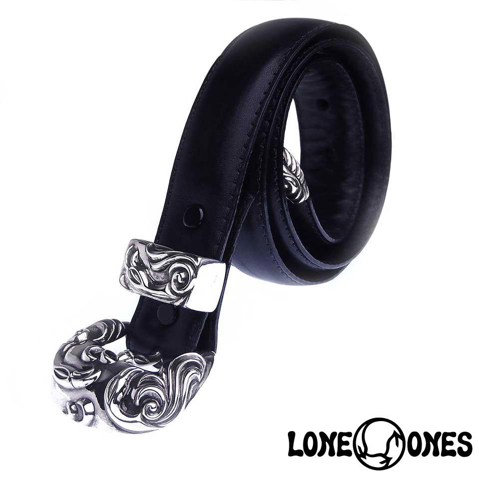 "【LONE ONES】ロンワンズ【送料無料】【あす楽】/MF Belt: King Crane: Black Leather: 1""/ キングクレーン:ブラックレザーベルト"