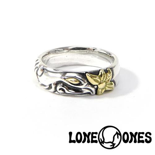 【LONE ONES】ロンワンズ【送料無料】【あす楽】/MF Ring: Soul Mate Gold Eye w/Gold Flower ソールメイト/18Kゴールドアイズ&18Kゴールドフラワーリング