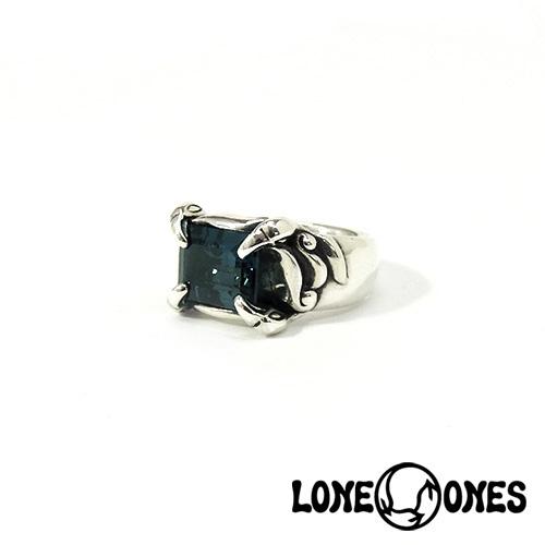 【LONE ONES】ロンワンズ【送料無料】【あす楽】/MF Ring: Temple with London Blue Topaz Emerald Cut (10mm x 8mm)-Size 3.0-5.5(JP#4~#10) テンプルロンドンブルートパーズエメラルドカット/XSサイズ/シルバーリング/ブルートパーズ/天然石