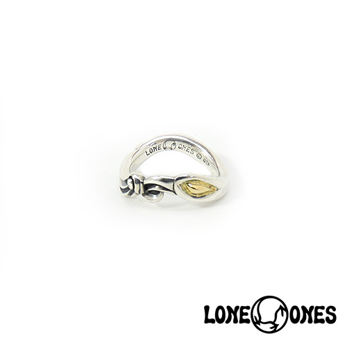 【LONE ONES】ロンワンズ【送料無料】【あす楽】/MF Ring: Infinity Gold Eye インフィニティゴールドアイリング/18K/ゴールド/イエロー