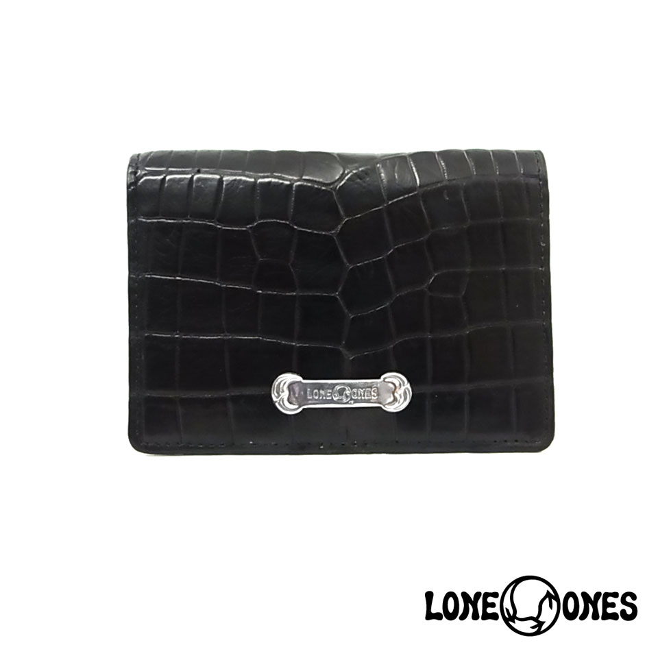 【LONE ONES】ロンワンズ【送料無料】【あす楽】/MF Wallet: Card Case Mat Crocodile MFウォレット:カードケース マットクロコダイル