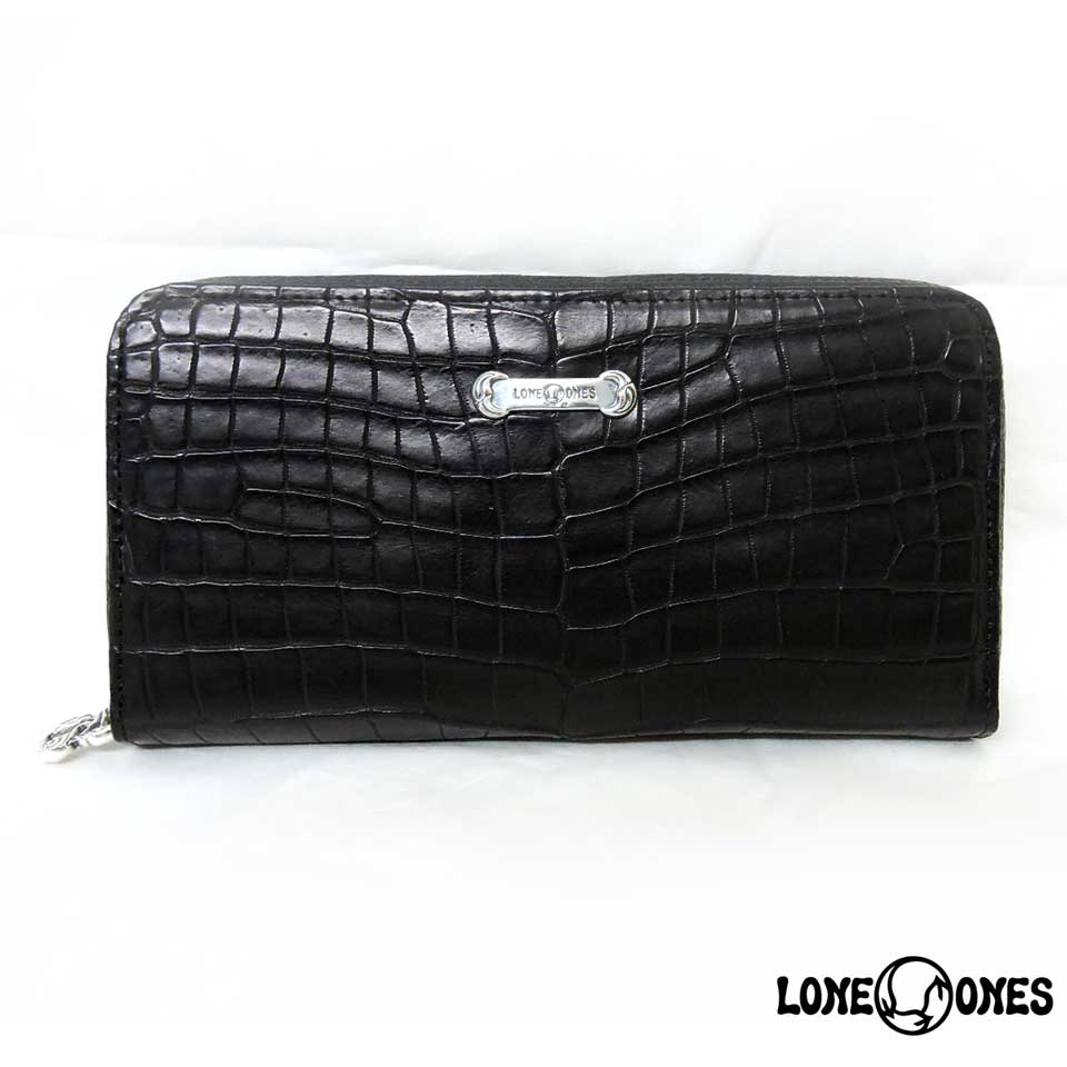 【LONE ONES】ロンワンズ【送料無料】【あす楽】/MF Wallet: MF Wallet: Zipper Long Wallet Mat Crocodile MFウォレット:ジッパーロングウォレット/マットクロコダイル
