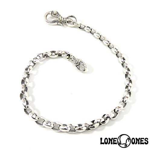【LONE ONES】ロンワンズ【送料無料】【あす楽】/MF Wallet Chain - Silk Link Small with Swan Clip Small 17inch ウォレットチェーン-シルクリンクスモールw/スワンクリップスモール43cm/ウォレットチェーン/シルク/シルバー