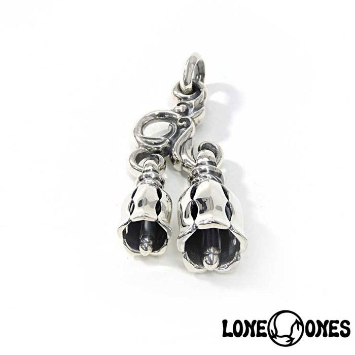 【LONE ONES】ロンワンズ【送料無料】【あす楽】/MF Pendant: Two Bell Hanger -Large-w/Silk Bells Medium and Small 2ベルハンガー(ラージ)シルクベルズミディアム&スモール/シルバーペンダント