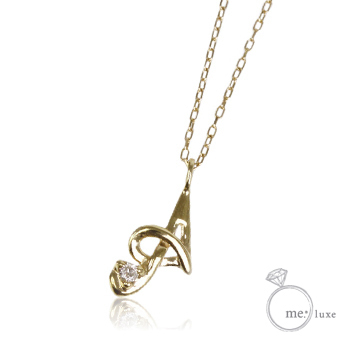 【me.luxe】ミーリュクスダイヤモンド/10KG イニシャルネックレス「A」