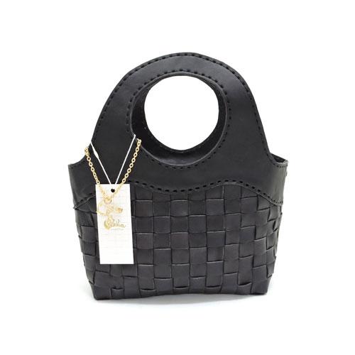 【robita】ロビタ【送料無料】【あす楽】【正規取扱い店舗】AN-050 BLACK/ブラックメッシュレザーバック/Sサイズ/ブラック/ハンドバッグ