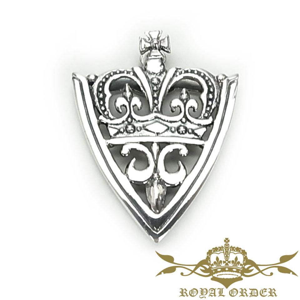 【ROYAL ORDER】ロイヤルオーダー【送料無料】【あす楽】/CROWN FDL クラウンFDL/ベルトチップ/シルバー