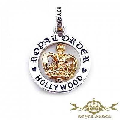 【ROYAL ORDER】ロイヤルオーダー【送料無料】【あす楽】/SPINNING 18K GOLD CROWN スピニング18Kイエローゴールドクラウンペンダント