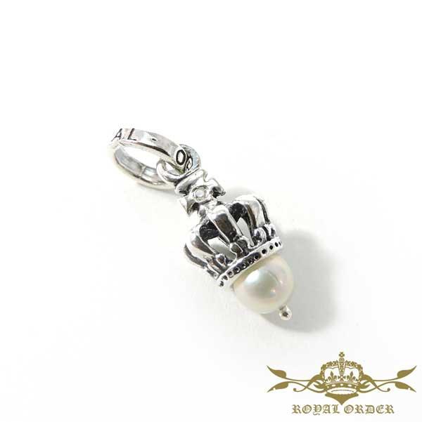【ROYAL ORDER】ロイヤルオーダー【送料無料】【あす楽】/ TINY CROWN W/1 DIAMOND & PEARL タイニークラウンw/1ダイヤモンド&パール