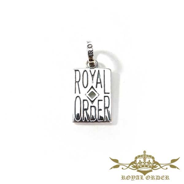 【ROYAL ORDER】ロイヤルオーダー【送料無料】【あす楽】/ ACE OF DIAMOND エースオブダイヤモンド/トランプ/エース/シルバーペンダント