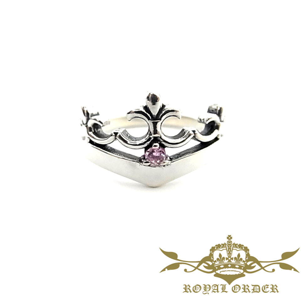 【ROYAL ORDER】ロイヤルオーダー【送料無料】【あす楽】/DELICATE TIARAw/ 1 CZ/PINK デリケートティアラw/1 CZ/ピンク