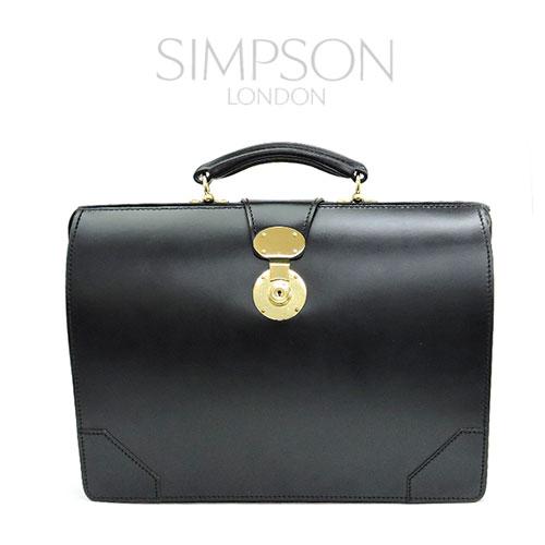 【SIMPSON LONDON】シンプソン・ロンドン/D320/ブライドルレザーダレスバック/ビジネスバック/メンズ