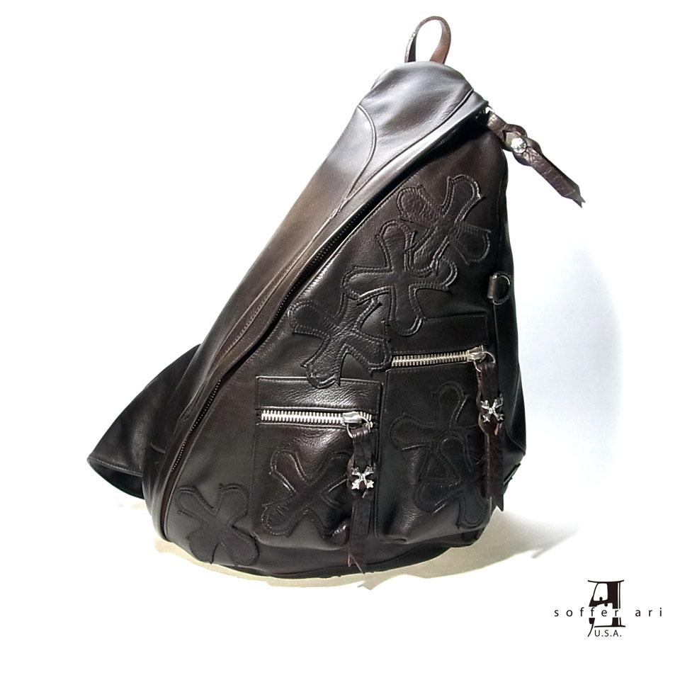 【Soffer Ari】ソファアリBACK PACK - BROWN バックパック/オールレザー/ブラウン/リュック/クロスパッチ/本革