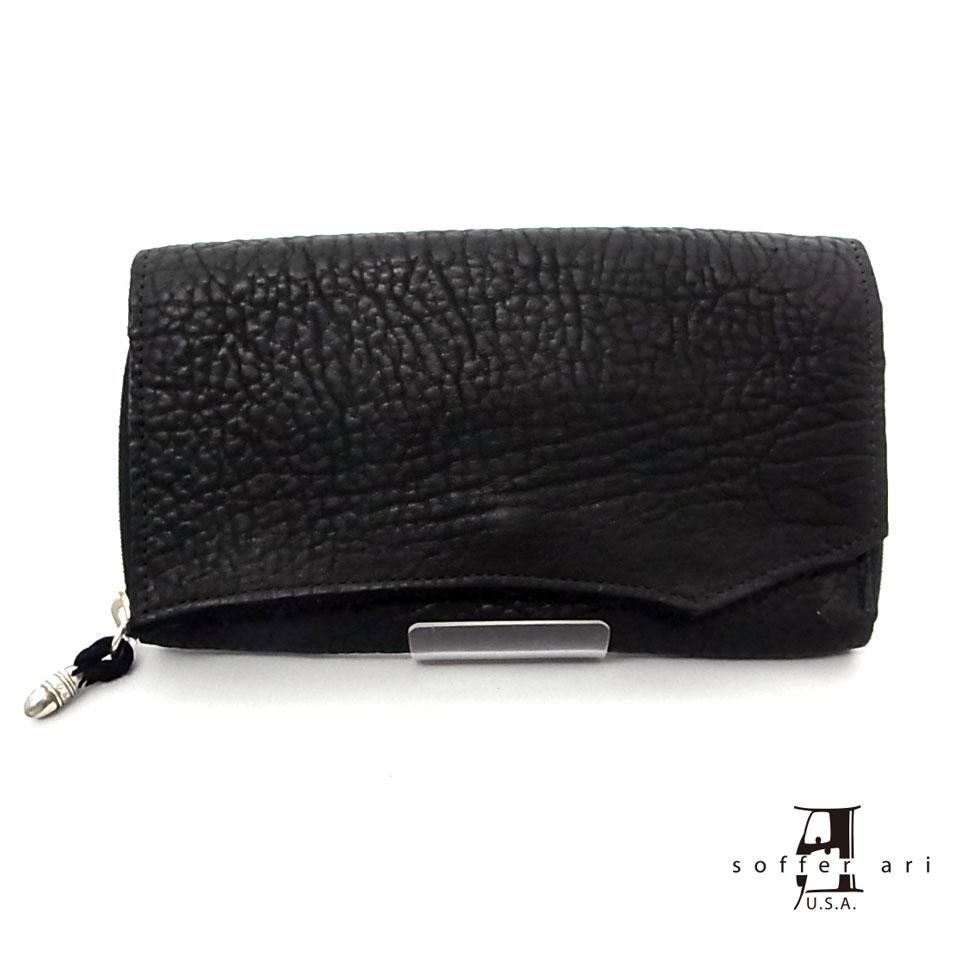 【Soffer Ari】ソファアリLargecamber Long Wallet-Black
