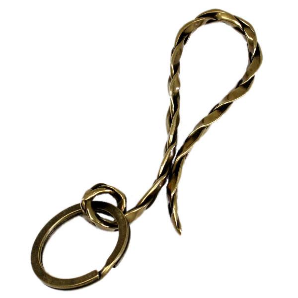 【VASSER】バッサーVintage Woven Key Chain Brass(ビンテージウーブンキーチェーンブラス)/キーチェーン/真鍮/シンプル/メンズ