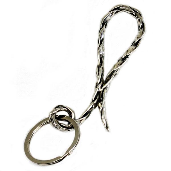 【VASSER】バッサーVintage Woven Key Chain Silver(ビンテージウーブンキーチェーンシルバー)/キーチェーン/シルバー/シンプル/メンズ
