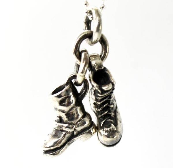【VASSER】バッサー Biker Boot Cracker Pendant Silver w/Ball Chain(バイカーブーツクラッカーペンダントシルバー)/ペンダント/ブーツ/靴/シルバー/チェーンセット/メンズ/レディース