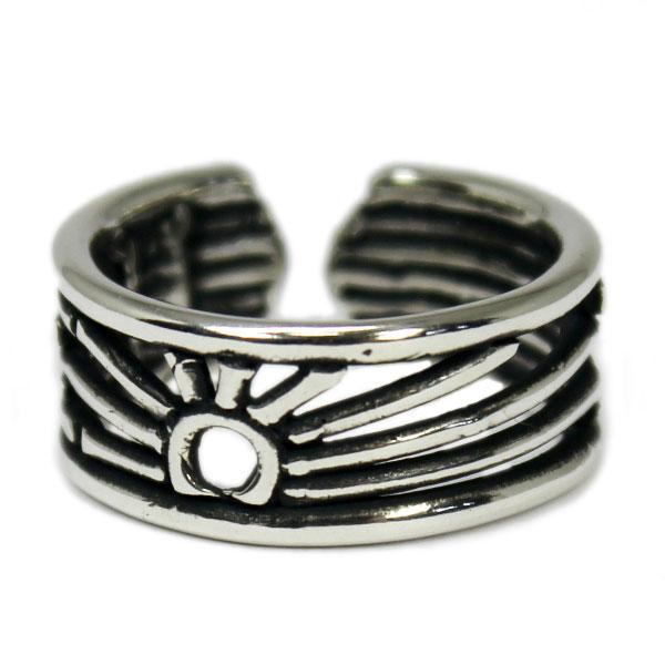 VASSER バッサー ネコポス ポスト投函 対応商品 Rising Sun Pinkie Ring Toe Ring ライジングサンピンキーリング トゥリングリング 太陽 シルバー シンプル タイリング アクセサリー メンズ レディースUqzSMVp