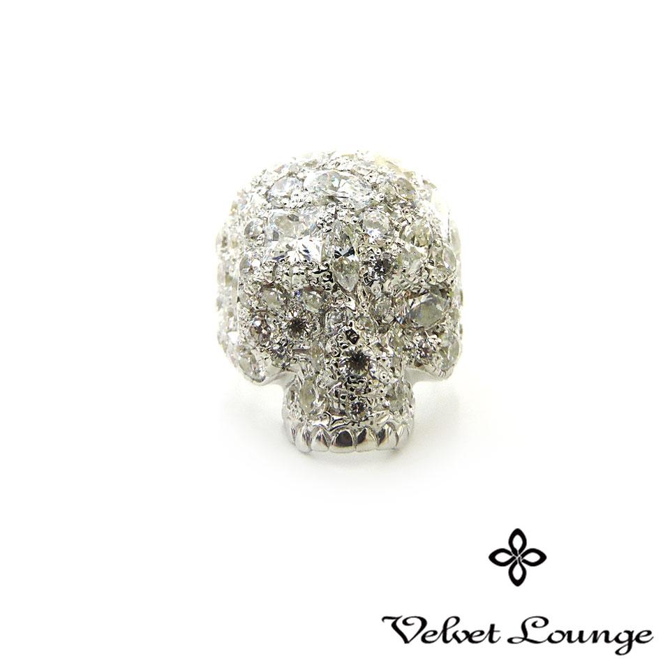 【Velvet Lounge】ヴェルヴェットラウンジスターダスト スカル リング ホワイト