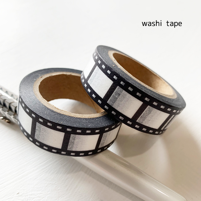 メール便配送可能 washi tape マスキングテープ ネガフィルム 1本 1.5cmx10m手描き メーカー在庫限り品 ブロック フィルム 和紙テープ 安い 激安 プチプラ 高品質 Camera 映画 ステッカー カメラ Film ラッピング用品