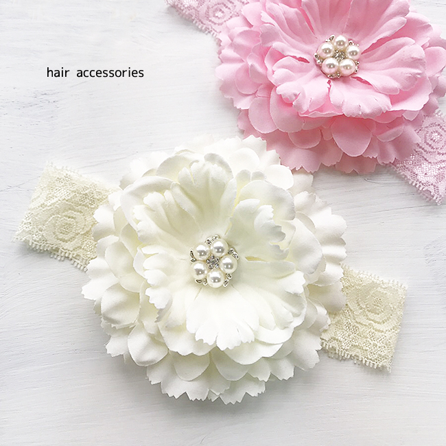 FREE FAST SHIPPING FROM USA Baby Girl Peony Flower Headband Hair Accessories
