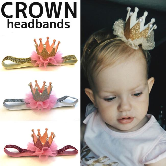 35126dd84 baby girl accessory pearl headband glitter baby CROWN hairband birthday  herfbirthday baby Crown ♢ 0- ...