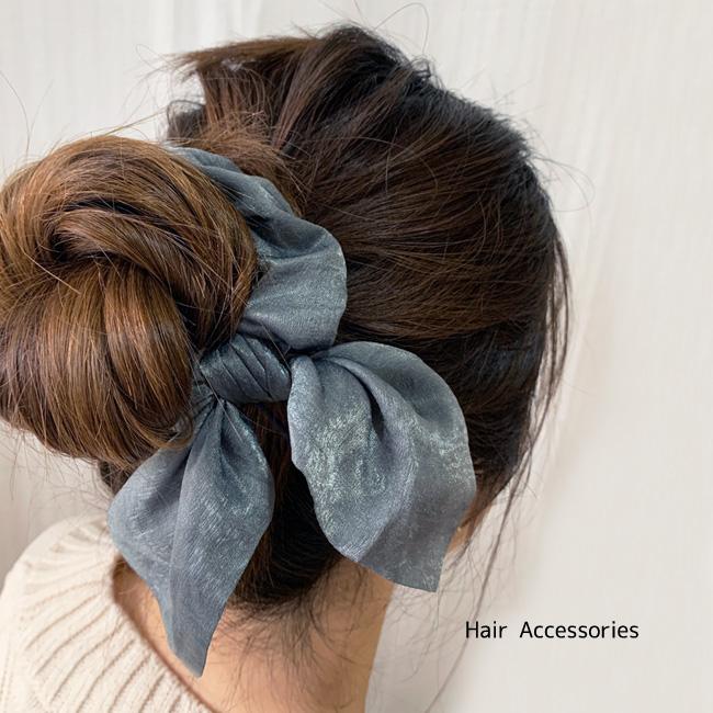 クフウ 大人向け ヘアアクセ Kufuu ヘアアクセサリー NO 025 リボンシュシュ クフウ大人用 ヘアクリップ ヘアピン 髪飾り アクセ リボン Ears Ties りぼん Bunny Bands Hair 通常便なら送料無料 Girls 内祝い Rope ヘアヘアゴム くしゅっと シュシュ Headwear