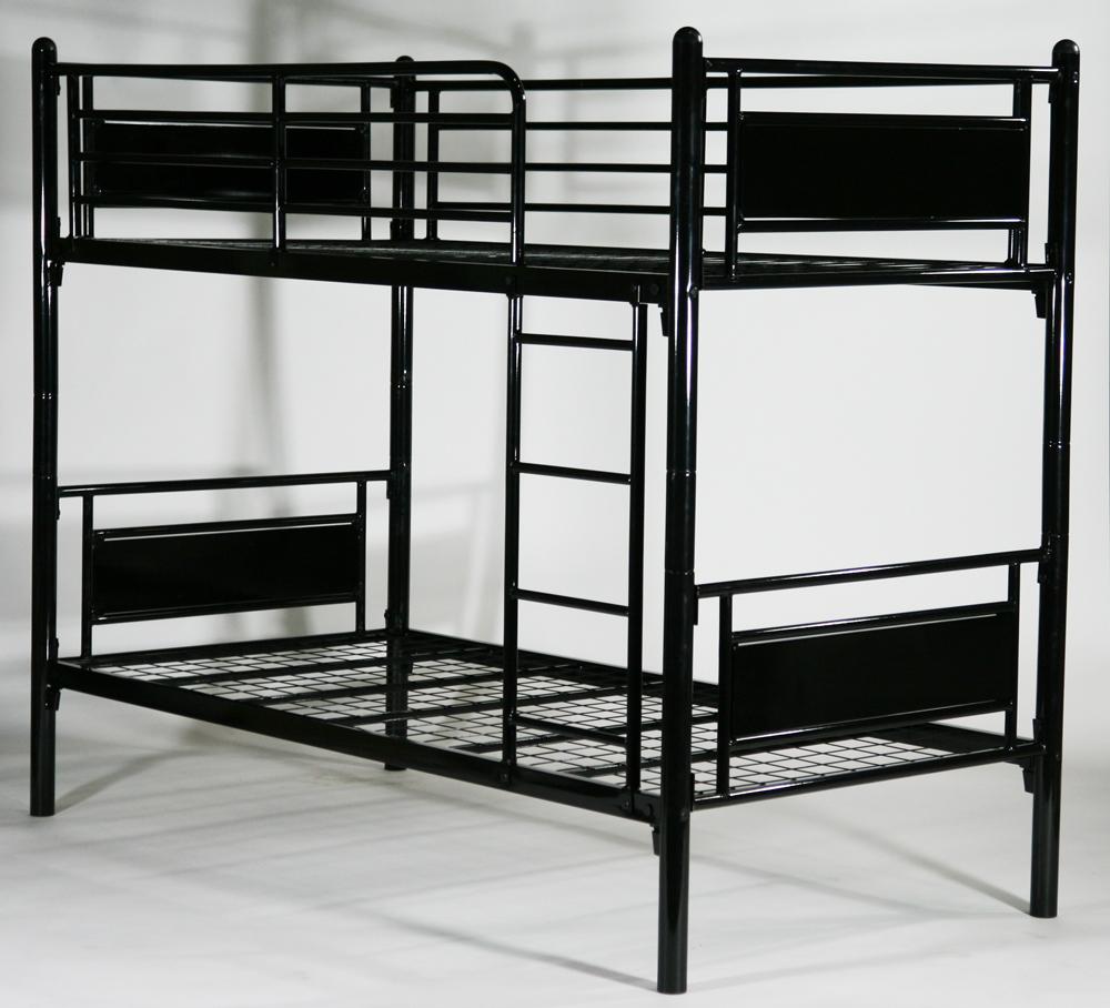 無料 スチールベッド パネル二段ベッド パイプ2段ベッド WH 2段ベッド