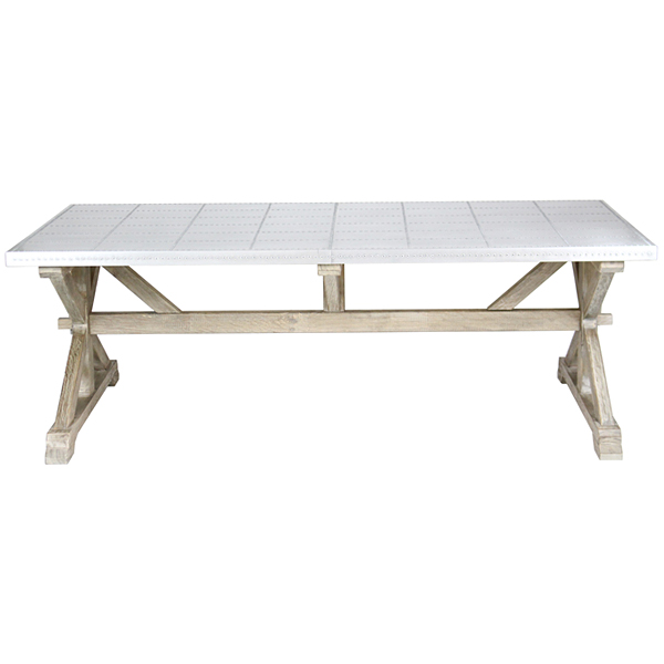 送料無料 新品 アルミ アルミテーブル ダイニングテーブル オフィスデスク モダン ヴィンテージ ヴィンテージテーブル コーヒーテーブル カフェ レトロモダン レトロ アンティークテイスト アンティーク調 アンティークスタイル W220×D120