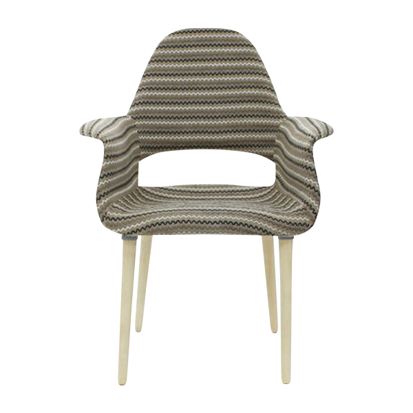 送料無料 新品 PP32C オーガニックチェア チャールズ・イームズ/エーロ・サーリネン ファブリック ストライプorganic chair BEIGE ベージュストライプ