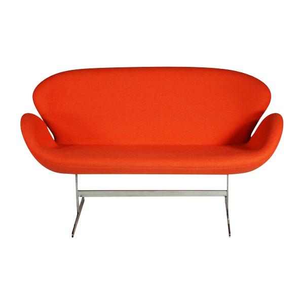 送料無料 新品 スワンチェア(Swan Chair) ORANGE 2P ラブソファ