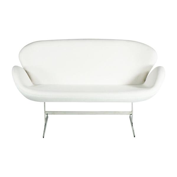送料無料 新品 スワンチェア(Swan Chair) WHITE 2P ラブソファ