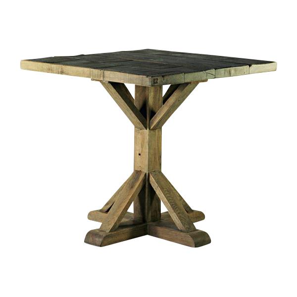 送料無料 新品 アンティーク調 オーク材 ダイニングテーブル コーヒーテーブル ラウンジテーブル グレー