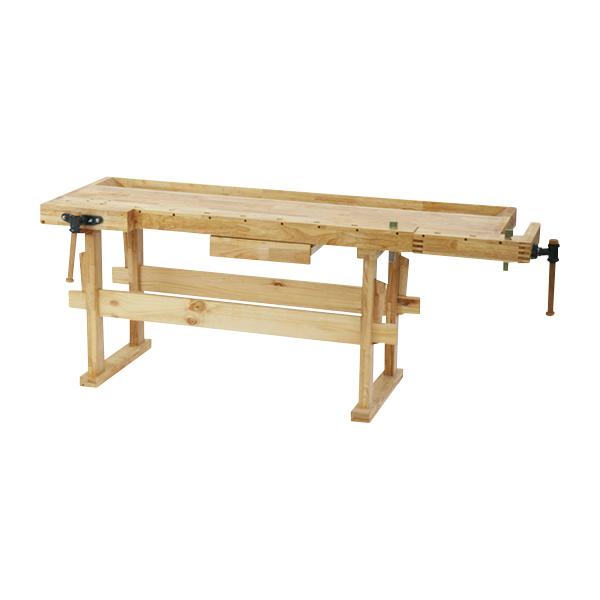 送料無料 W210 木工作業台 木工用作業台 木製作業台 工作作業台 木製工作作業台 作業台 木製 バイス 工作用 木工用 デスク 机