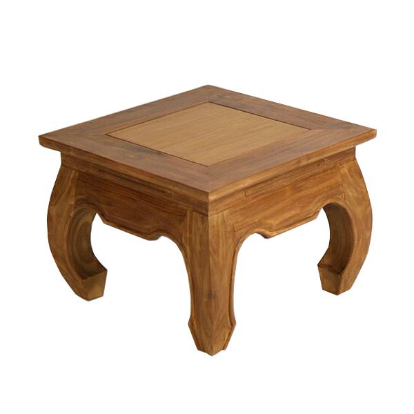 送料無料 送料無料 激安 お買い得 キ゛フト 新品 チーク無垢 オピュームテーブル ローテーブル サイドテーブル チーク材 チーク 価格 T-243A-ライトブラウン 無垢材